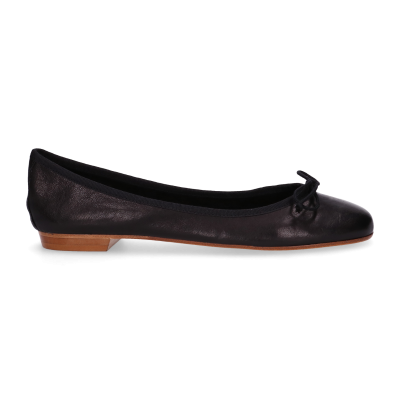 Ballerina-soft-smooth-leather-Black