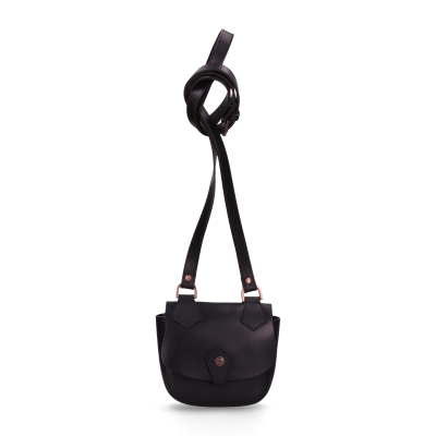 Evening-bag-with-mirror-smooth-leather-Black