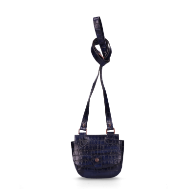 Evening-bag-with-mirror-printed-leather-Kobalt-Blue