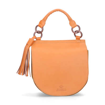 Shoulder-bag-suede-smooth-leather-Mustard-Yellow