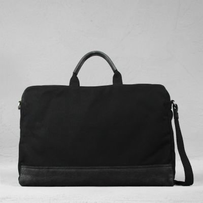 HANDBAG-LARGE-WAXED-GRAIN-LEATHER-AND-CANVAS-Black-Black