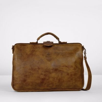Business-bag-hand-buffed-leather-large-Brown