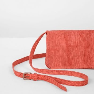 Shoulderbag-printed-leather-Red
